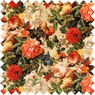 Floral Pompadour Velvet Fabric FD315.T30 by Mulberry Home