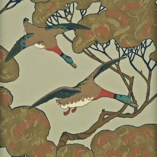 Mulberry Home Wallpaper Heirloom Flying Ducks Collection FG066.H22