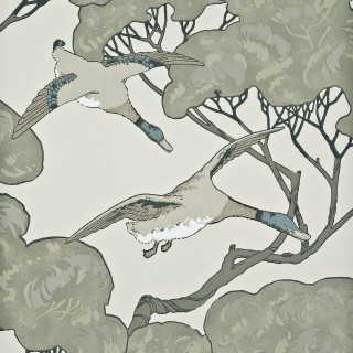 Mulberry Home Wallpaper Heirloom Flying Ducks Collection FG066.J80
