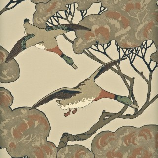 Mulberry Home Wallpaper Heirloom Flying Ducks Collection FG066.K102