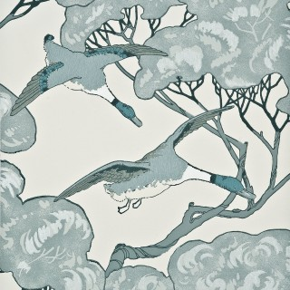 Mulberry Home Wallpaper Heirloom Flying Ducks Collection FG066.R104