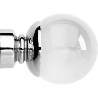 Rolls Neo Premium 35mm Clear Ball Chrome Effect Crystal Finials (Pair)