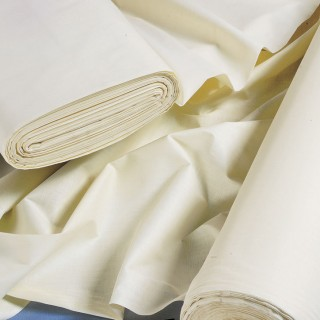 Curtain Lining Fabric Premium Satin Poly/Cotton White