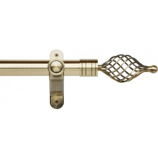 Museum Galleria Metals 50mm Burnished Brass Effect Metal Eyelet Curtain Pole