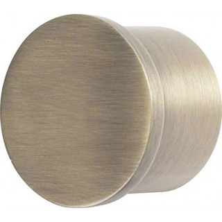 Galleria 50mm Burnished Brass Effect Metal End Cap (Pack of 1)