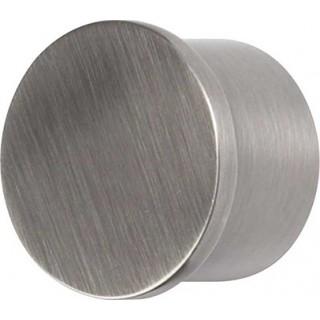 Galleria 50mm Brushed Silver Metal End Cap (Pack of 1)