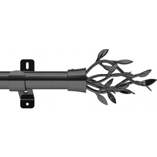 Swish Design Studio Entwine 28mm Graphite Eyelet Curtain Pole