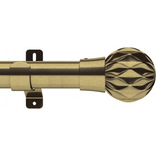 Swish Design Studio Cruzar 35mm Antique Brass Eyelet Curtain Pole