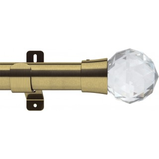 Swish Design Studio Prisma 35mm Antique Brass Eyelet Curtain Pole