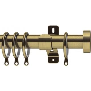 Swish Elements Stud 28mm Antique Brass Effect Metal Curtain Pole