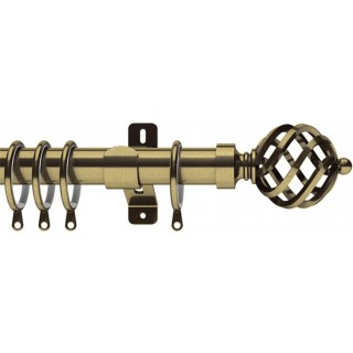 Swish Elements Titan 28mm Antique Brass Effect Metal Curtain Pole