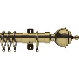 Swish Elements Minster 35mm Antique Brass Effect Metal Curtain Pole