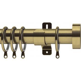 Swish Elements Stud 35mm Antique Brass Effect Metal Curtain Pole