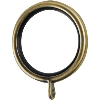 Museum Galleria 35mm Burnished Brass Effect Lined Rings (Pack of 6)