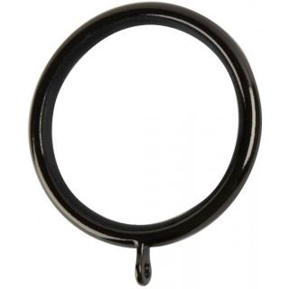 Museum Galleria 50mm Black Nickel Effect Lined Rings (Pack of 6)
