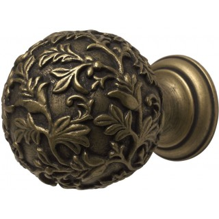 Rolls Modern Country 45mm Gold Black Floral Ball Finial