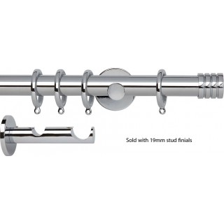 Rolls Neo Double Curtain Pole 19/28mm Chrome Effect