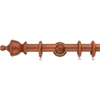Swish Naturals Urn 35mm Chestnut Effect Wood Curtain Pole