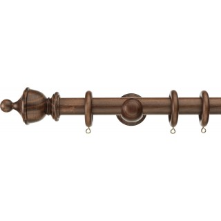 Swish Naturals Urn 28mm Dark Walnut Effect Wood Curtain Pole