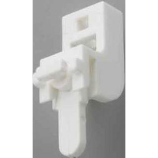 Swish Sologlyde White PVC Lever Lock Bracket (Pack of 5)