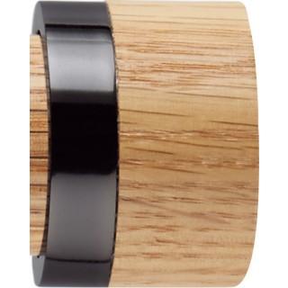 Rolls Neo 35mm Oak Stud Black Nickel Finials (Pair)