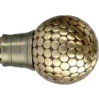 Museum Galleria 35mm Burnished Brass Effect Large Flat Stud Finial (1 pack of 1)