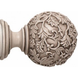 Rolls Modern Country 45mm Brushed Ivory Floral Ball Finial