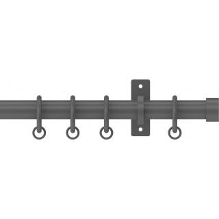 Hallis Hudson Arc 25mm Lead Stud Metal Fixed Length Curtain Pole