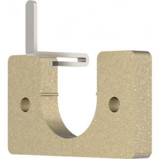 Hallis Hudson Arc 25mm Soft Brass Recess Bracket