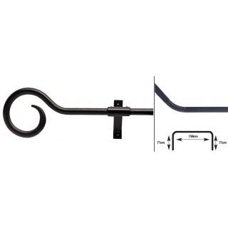 Artisan Bay Pole 16mm Wrought Iron Metal Curtain Pole Kit