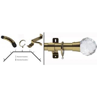 Swish Design Studio Prisma 35mm Antique Brass Bay Curtain Pole Kit