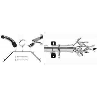 Swish Design Studio Entwine 35mm Chrome Bay Curtain Pole Kit