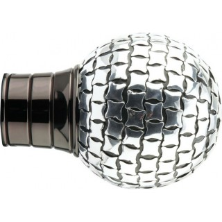 Museum Galleria 50mm Black Nickel Square Studded Ball Finial (1 pack of 1)