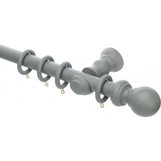 Rolls Honister 28mm Pale Slate Wood Curtain Pole