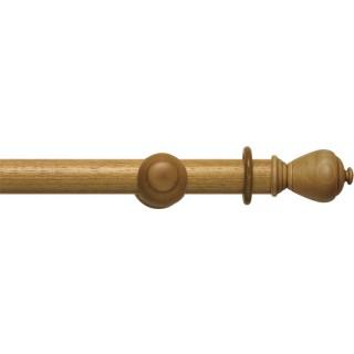 Rolls Modern Country 45mm Light Oak Wood Curtain Pole