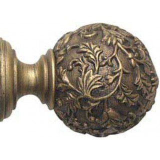 Rolls Modern Country 55mm Gold Black Floral Ball Finial