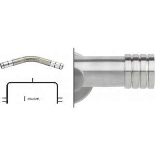 Neo 3 Sided Bay Eyelet Curtain Pole Kit 35mm Stainless Steel