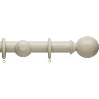 Hallis Origins 35mm Limestone Ball Wood Curtain Pole