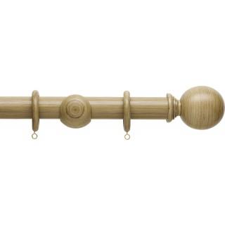 Hallis Origins 35mm Shale Ball Wood Curtain Pole