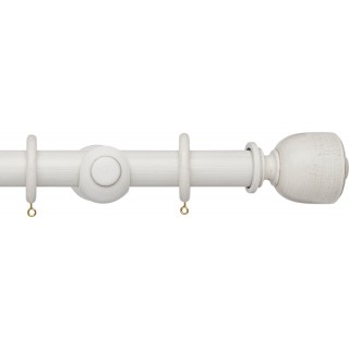 Hallis Origins 45mm Chalk Stone Tulip Urn Wood Curtain Pole