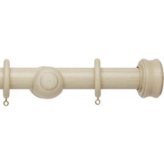 Hallis Origins 45mm Limestone Disc Wood Curtain Pole