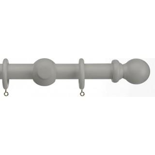 Vogue Deluxe 35mm Dark Grey Wooden Curtain Pole