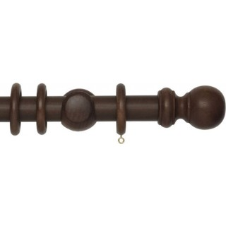 Rolls Woodline 35mm Dark Oak Effect Wood Curtain Pole