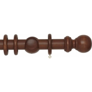 Rolls Woodline 35mm Rosewood Effect Wood Curtain Pole