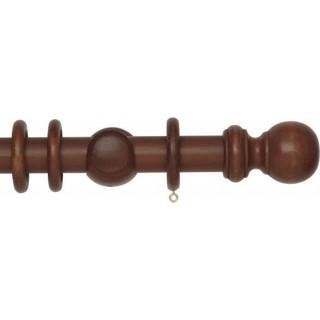 Rolls Woodline 35mm Rosewood Effect Wood Curtain Pole