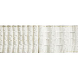 "Multi Woven Pocket 76mm (3"") White Pencil Pleat Tape"