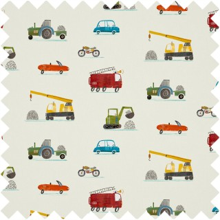 Just Keep Trucking Fabric 120941 by Harlequin