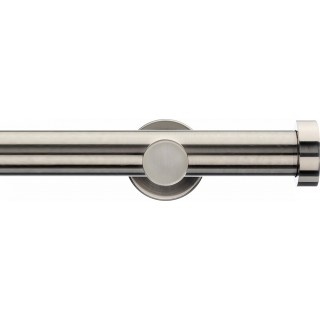 Integra Inspired Lustra 28mm Satin Nickel Effect Metal Eyelet Curtain Pole