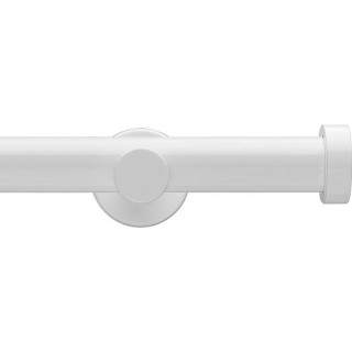 Integra Inspired Eclipse 28mm High Gloss White Effect Metal Eyelet Curtain Pole