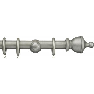 Integra Masterpiece 35mm Antique Silver Effect Wood Curtain Pole